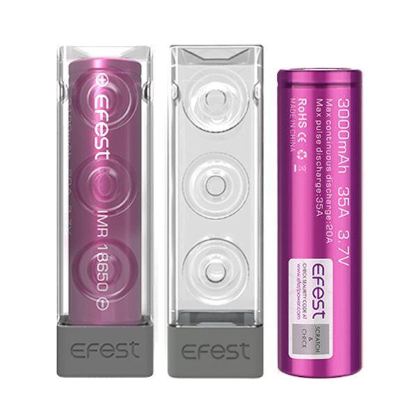 Pack H2 Accus 18650 Efest Purple 3000 mAh
